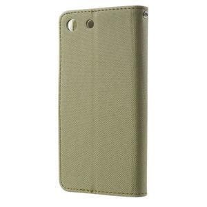Wall PU kožené pouzdro na mobil Sony Xperia M5 - khaki - 2