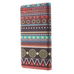 Stand peněženkové pouzdro na Sony Xperia M5 - tribal - 2