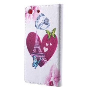 Stand peněženkové pouzdro na Sony Xperia M5 - láska Eiffelka - 2
