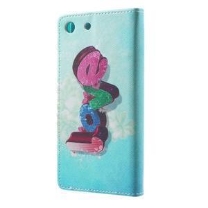Stand peněženkové pouzdro na Sony Xperia M5 - love - 2