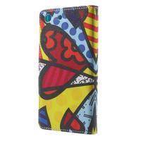 Stand peněženkové pouzdro na Sony Xperia M5 - abstract - 2/7