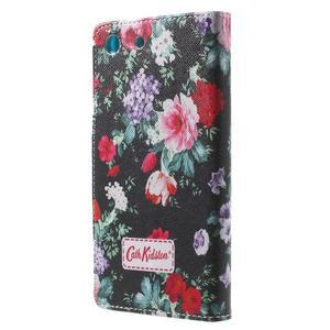 Stand peněženkové pouzdro na Sony Xperia M5 - kvetoucí růže - 2
