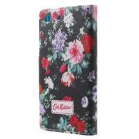 Stand peněženkové pouzdro na Sony Xperia M5 - kvetoucí růže - 2/7