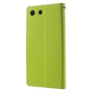 Goos PU kožené penženkové pouzdro na Sony Xperia M5 - zelené - 2
