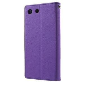 Goos PU kožené penženkové pouzdro na Sony Xperia M5 - fialové - 2