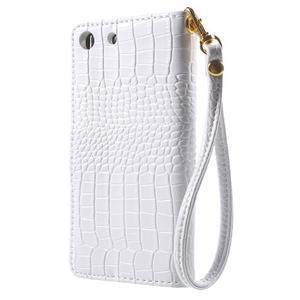 Croco peněženkové pouzdro na mobil Sony Xperia M5 - bílé - 2