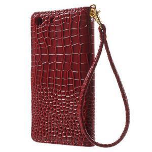 Croco peněženkové pouzdro na mobil Sony Xperia M5 - červené - 2