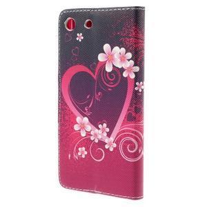 Crafty peněženkové pouzdro na Sony Xperia M5 - srdce - 2