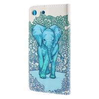 Crafty peněženkové pouzdro na Sony Xperia M5 - modrý slon - 2/7