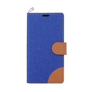 Jeans peněžnkové pouzdro na mobil Sony Xperia M5 - modré - 2