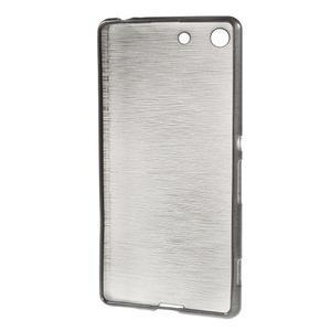 Brush gelový obal pro Sony Xperia M5 - šedý - 2