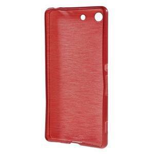 Brush gelový obal pro Sony Xperia M5 - červený - 2
