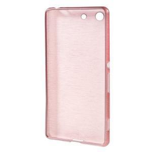 Brush gelový obal pro Sony Xperia M5 - růžový - 2