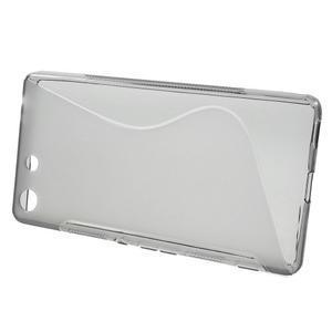 S-line gelový obal na mobil Sony Xperia M5 - šedé - 2