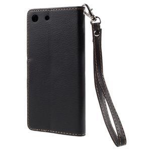 Blade peněženkové pouzdro na Sony Xperia M5 - černé - 2