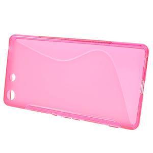 S-line gelový obal na mobil Sony Xperia M5 - rose - 2
