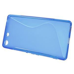 S-line gelový obal na mobil Sony Xperia M5 - modré - 2