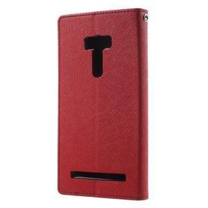 Mr. Goos peněženkové pouzdro na Asus Zenfone Selfie ZD551KL - červené - 2