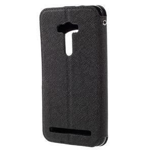 Peněženkové pouzdro s okýnkem na Asus Zenfone Selfie ZD551KL - černé - 2