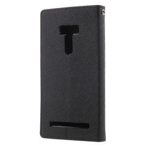 Mr. Goos peněženkové pouzdro na Asus Zenfone Selfie ZD551KL - černé - 2