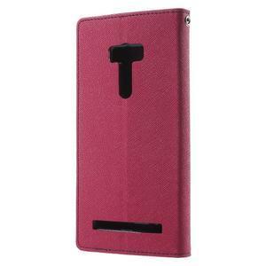 Mr. Goos peněženkové pouzdro na Asus Zenfone Selfie ZD551KL - rose - 2