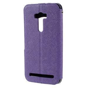 Peněženkové pouzdro s okýnkem na Asus Zenfone Selfie ZD551KL - fialové - 2