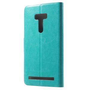 Horse peněženkové pouzdro na Asus Zenfone Selfie ZD551KL - modré - 2