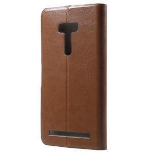 Horse peněženkové pouzdro na Asus Zenfone Selfie ZD551KL - hnědé - 2