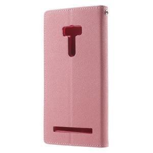 Mr. Goos peněženkové pouzdro na Asus Zenfone Selfie ZD551KL - růžové - 2