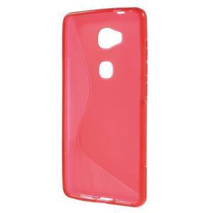 S-line gelový obal na mobil Honor 5X - červený - 2