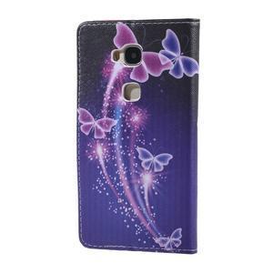 Knížkové pouzdro na mobil Honor 5X - kouzelní motýlci - 2