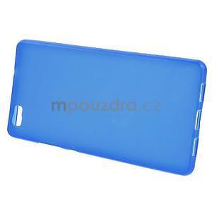 Modrý matný gelový obal pro Huawei Ascend P8 Lite - 2