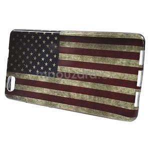 Gelový obal Style na Huawei Ascend P8 Lite - USA vlajka - 2