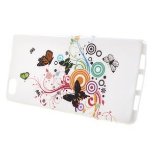 Gelový obal Style na Huawei Ascend P8 Lite - motýlkové - 2