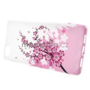 Gelový obal Style na Huawei Ascend P8 Lite - kvetoucí větvička - 2