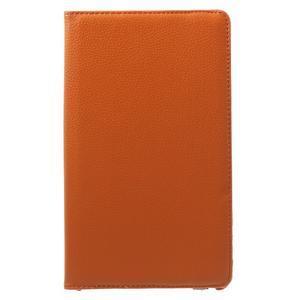 Otočné polohovatelné pouzdro na Huawei MediaPad M2 - oranžové - 2