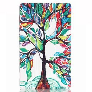 Třípolohové pouzdro na tablet Huawei MediaPad M2 8.0 - malovaný strom - 2