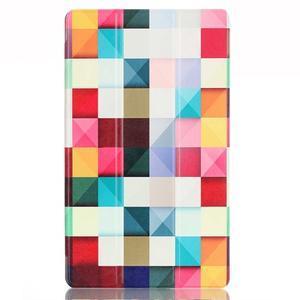 Třípolohové pouzdro na tablet Huawei MediaPad M2 8.0 - barevné kostičky - 2