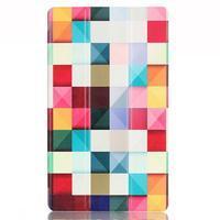 Třípolohové pouzdro na tablet Huawei MediaPad M2 8.0 - barevné kostičky - 2/7