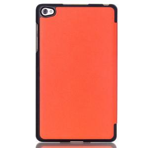 Trifold polohovatelné pouzdro na tablet Huawei MediaPad M2 8.0 - oranžové - 2