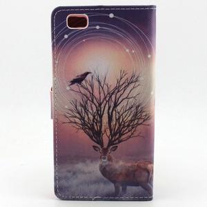 Emotive pouzdro na mobil Huawei P8 Lite - mytický jelen - 2