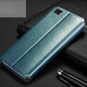 Vintage PU kožené pouzdro na Huawei P8 Lite - modré - 2