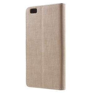 Clothy PU kožené pouzdro na mobil Huawei P8 Lite - champagne - 2