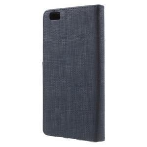 Clothy PU kožené pouzdro na mobil Huawei P8 Lite - tmavěmodré - 2