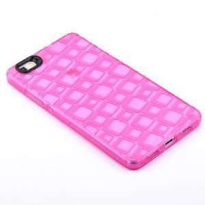 Square gelový obal na Huawei P8 Lite - rose - 2