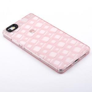 Square gelový obal na Huawei P8 Lite - růžový - 2