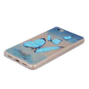Průhledný gelový obal na Huawei P8 Lite - motýlci - 2