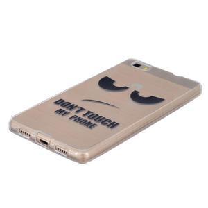 Průhledný gelový obal na Huawei P8 Lite - nedotýkat se - 2