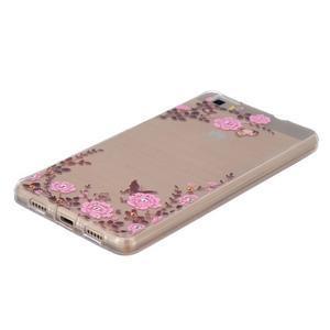 Průhledný gelový obal na Huawei P8 Lite - květinová harmonie - 2