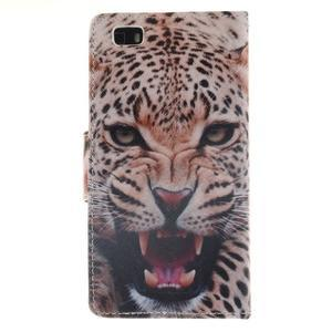 Leathy PU kožené pouzdro na Huawei P8 Lite - leopard - 2